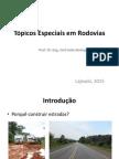 Tópicos especiais de rodovias - pavimentação