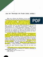 Aus Der Theologie Der Fahreddin Razi-1912