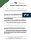 Naciones Unidas - Que LTGB Gocen de Todos Sus Derechos en Perú