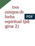Los Tres Campos de Lucha Espiritual