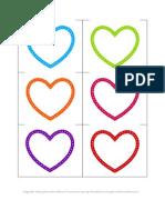 Alphabet Printable Hearts