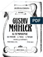Mahler Symphony No. 2 - piano reduction