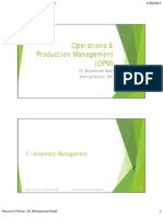 OPM Topic 7 Inventory Mgmt
