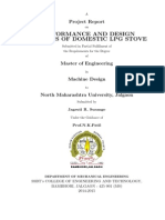 Performance and Design Analysis of Domestic LPG Stove