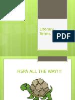 literary terms  2013 -2014