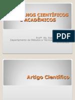 Trabalhos Científicos e Acadêmicos