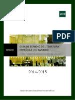 Guia Estudio Grado Parte 2LIT. DEL BARROCO 2014-2015