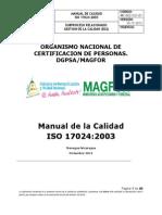 A16-1 Manual de Calidad 17024