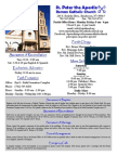 St. Peter the Apostle Weekly Bulletin 03-15-15