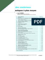 Structures Élastiques à Plan Moyen