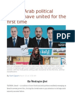 Israel's Arab Political Parties Have United for the First Time