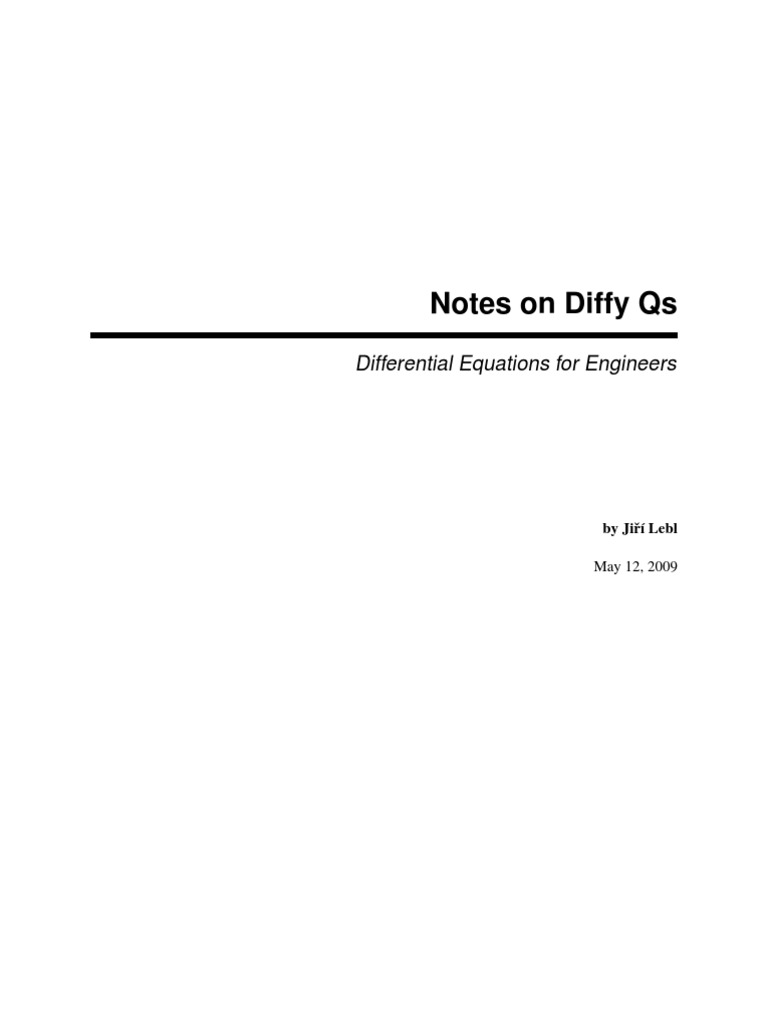 Notes on diffy qs integral ordinary differential equation fandeluxe Gallery