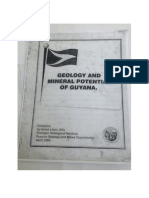 Geology and Mineral Potential of Guyana by Karen Livan