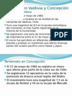 Terremoto en Valdivia y Concepción