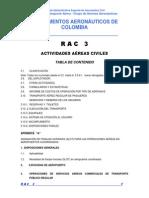 RAC 3 - Actividades Aéreas Civiles