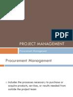 12 - PM - Procurement Management