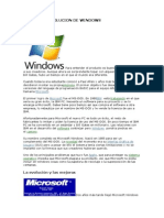 Historia y Evolucion de Windows