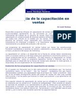 Lectura Importancia de La Capacitacion en Ventas