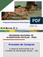 Cardápio +Compras +  Licitação CAE LIVIA 02.11.09