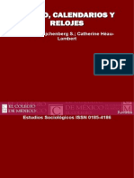 Tiempo, calendarios y relojes. Estudios Sociológicos, 20(2) 287