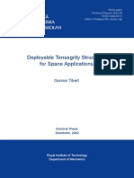 Tensegrity Structures for space applications