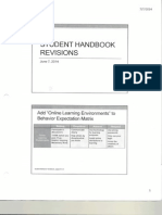student handbook revisions