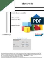 3-10-15 Webcast Slides - FINAL for Distribution
