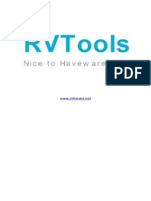 Rv Tools | Virtual Machine | Operating System