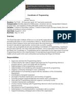 coordinator of programming - 2015-16