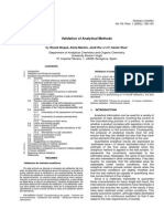 Validation of Analytical Methods