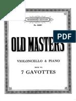 7 Gavotas Del s.xviii Para Cello y Piano