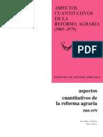 Aspectos cuantitativos de la reforma agraria (1969-1979)