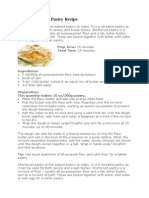 Basic Shortcrust Pastry