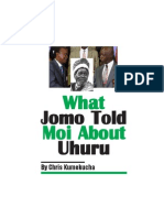 What Jomo Told Moi About Uhuru Kenyatta