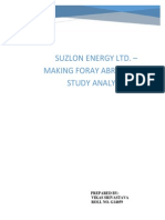 Suzlon Analysis Assignment