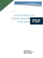 Suzlon Analysis Assignment