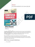 Computer Awarenessss For Bank Exams Part 1