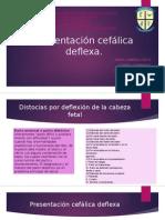 Presentacion cefalica deflexa