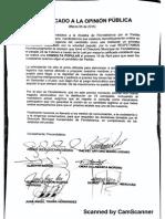 Comunicado Precandidatos Conservadores Floridablanca
