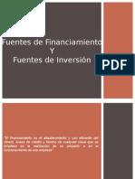 Fuentes de Financiamiento e Inversión