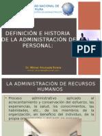 1.- Definición e Historia de La Administración de Personal