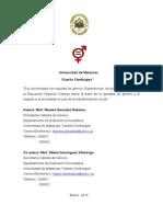 Proyecto Eco Universidad Con Equidad de Género. MsC. Mariela González Robaina.