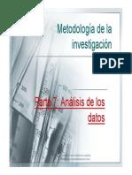 Metodología de La Investigación Análisis de Los Datos