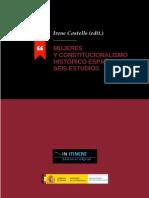 Mujeres y Constitucionalismo Historico Español 2014