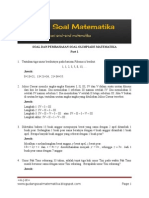 Soal Olimpiade Matematika Part 1