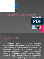 GENERALIDADES DE LA AUDITORIA FORENSE