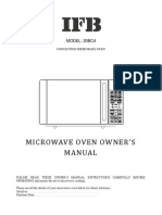 IFB Microwave Manual for 20BC4