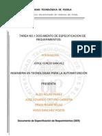 Documento de Especificación de Requerimientos