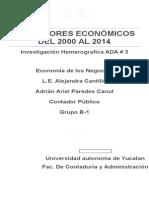 Indicadores Económicos de Mëxico Del 2000 Al 2014