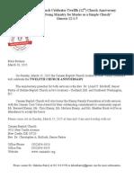 20150310 Press_Release Church Anniversary